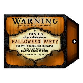 Etiqueta de advertencia del fiesta de Halloween - Invitaciones Personales