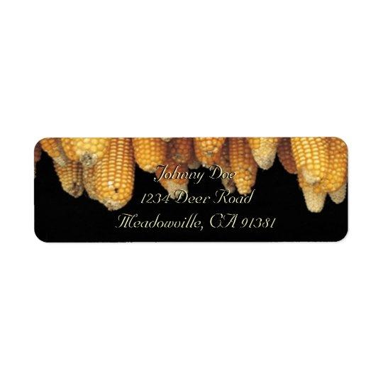 Etiqueta de Avery de la fila del maíz