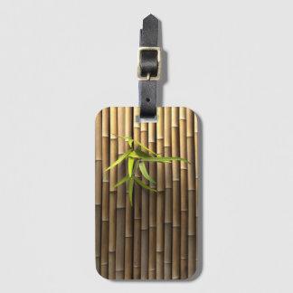 Etiqueta de bambú del equipaje de la pared