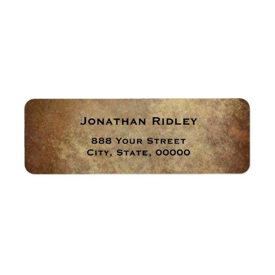 Etiqueta de cobre metálica del remite de la placa etiquetas de remite
