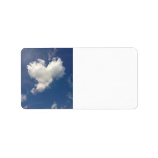 Etiqueta de correo de la nube del corazón etiquetas de dirección