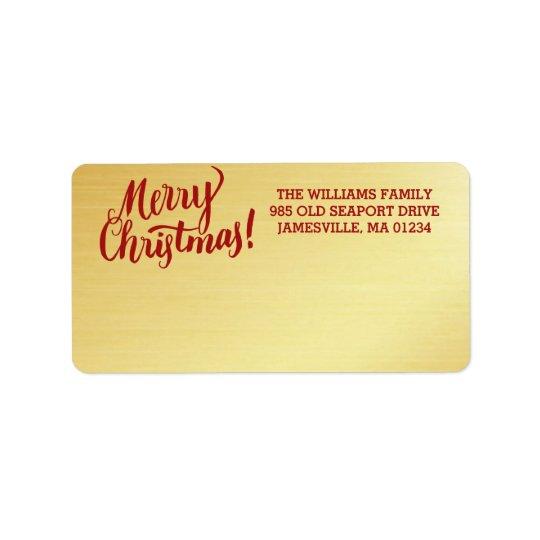 Etiqueta de correo personalizada de las Felices
