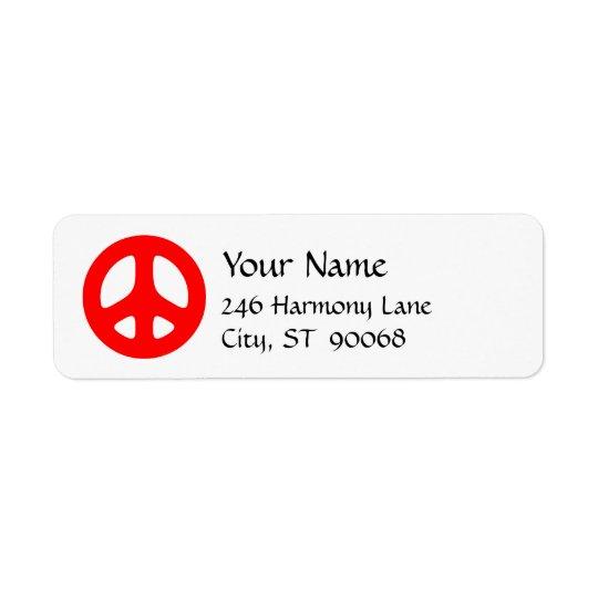 Etiqueta de devolución roja del personalizado del etiquetas de remite