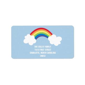 Etiqueta de dirección caprichosa del arco iris