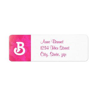 Etiqueta de dirección color de rosa de la fantasía
