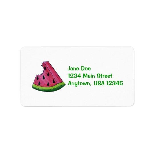 Etiqueta de dirección con sabor a fruta de la