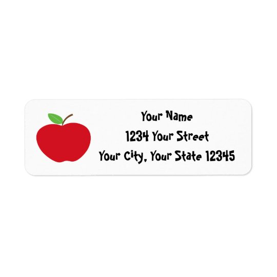 Etiqueta de dirección de Apple