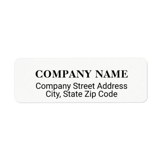 etiqueta de dirección de compañía con el co.