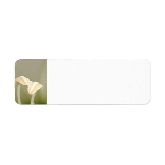 Etiqueta de dirección de dos flores