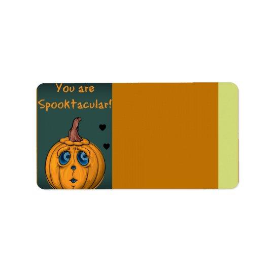 Etiqueta de dirección de Halloween