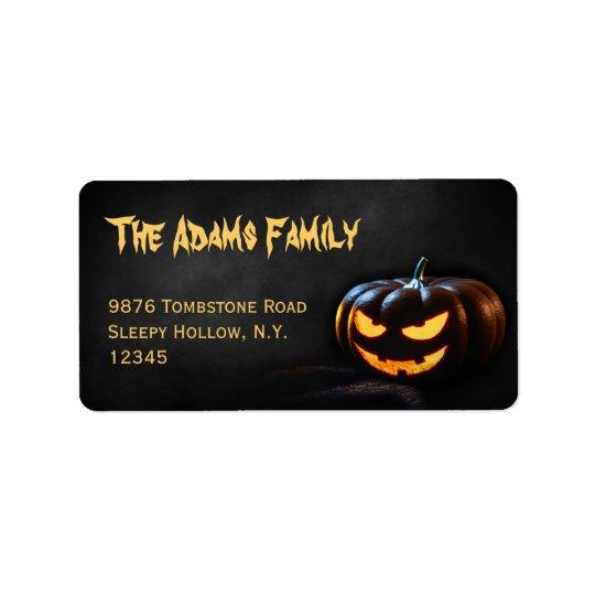 Etiqueta de dirección de Halloween de la