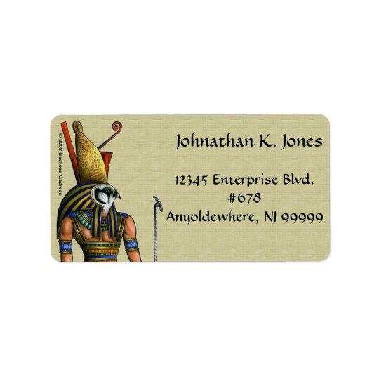 Etiqueta de dirección de Horus