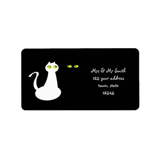 Etiqueta de dirección de la señora y de Sr. Cats