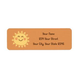 Etiqueta de dirección de la sol