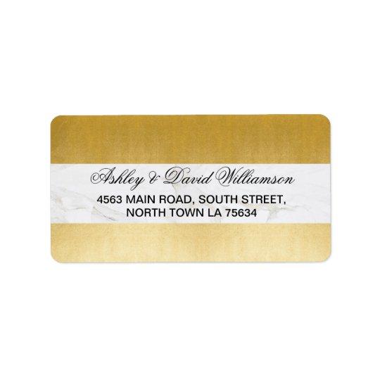 Etiqueta de dirección de mármol del boda de la