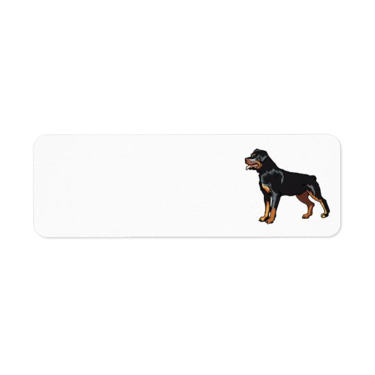 Etiqueta de dirección de Rottweiler