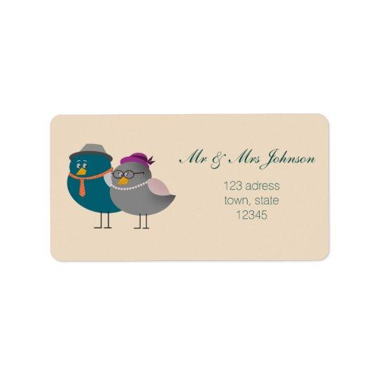 Etiqueta de dirección de Sr. y de señora Cute