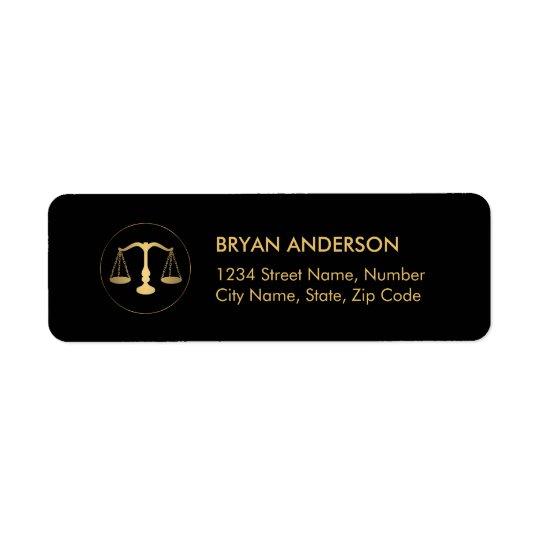 Etiqueta de dirección del abogado del abogado