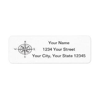 Etiqueta de dirección del compás