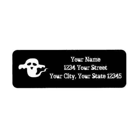 Etiqueta de dirección del fantasma