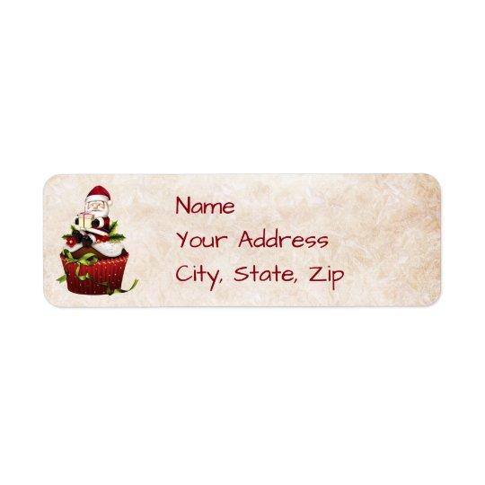 Etiqueta de dirección del navidad de Santa
