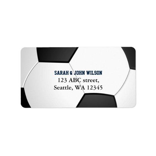 Etiqueta de dirección del tema del fútbol del fies