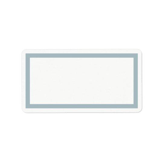 Etiqueta de dirección en blanco azul del marco del