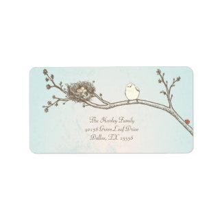 Etiqueta de dirección feliz de Pascua