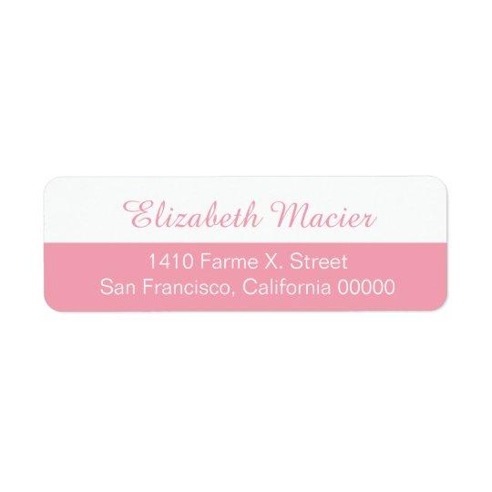 etiqueta de dirección femenina a medias rosada con