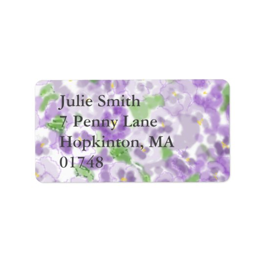 etiqueta de dirección floral