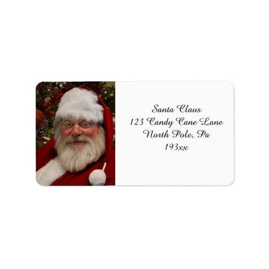 Etiqueta de dirección maravillosa de Papá Noel