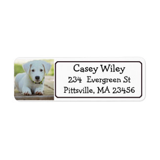 Etiqueta de dirección personalizada del mascota o