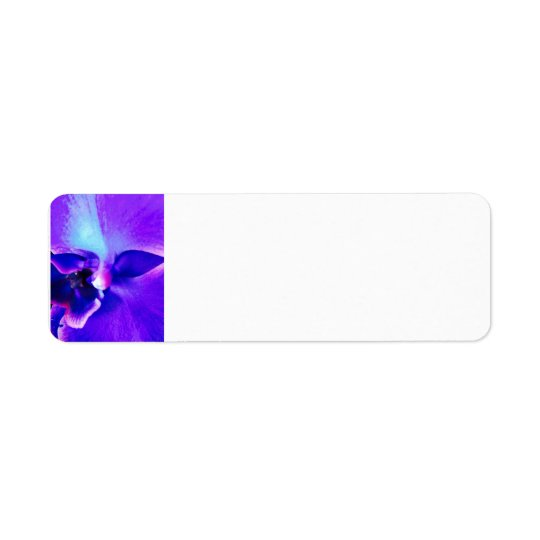 Etiqueta de dirección púrpura de la cara