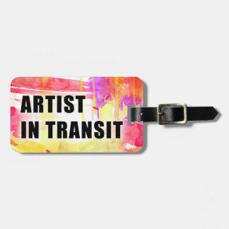 Etiqueta de encargo colorida caliente del viaje