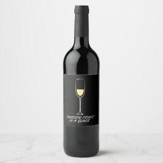 Etiqueta de encargo de la botella de vino