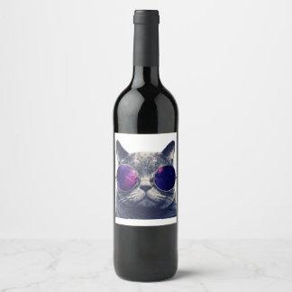 Etiqueta de encargo de la botella del vino (o