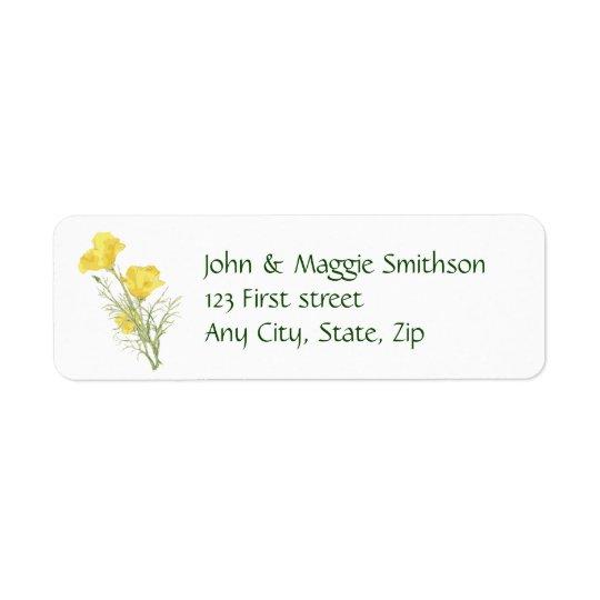 Etiqueta de encargo de la flor del jardín de la