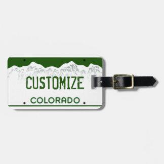 Etiqueta de encargo del equipaje de la placa de Co