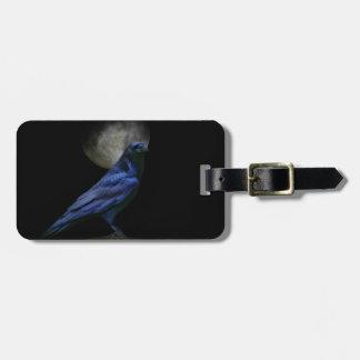 Etiqueta de encargo del equipaje del cuervo gótico