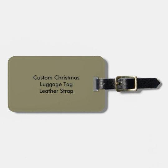 Etiqueta de encargo del equipaje del navidad con