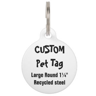 Etiqueta de encargo del mascota - el ¼ grande de identificador para mascotas