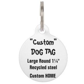 Etiqueta de encargo del mascota - el ¼ grande de placa de mascota