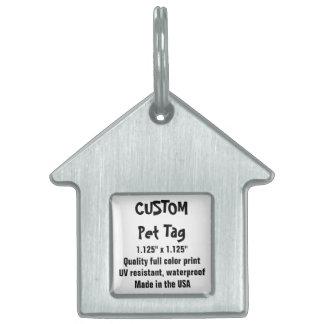Etiqueta de encargo del mascota - la casa de placa de nombre de mascota