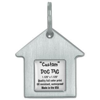 Etiqueta de encargo del mascota - la casa de placas mascota