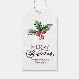 Etiqueta de encargo del navidad con los elementos etiquetas para regalos