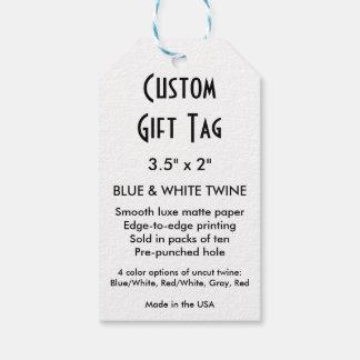 """Etiqueta de encargo del regalo (10x) - guita 3,5"""" etiquetas para regalos"""