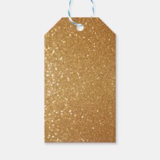 Etiqueta de encargo del regalo del oro brillante
