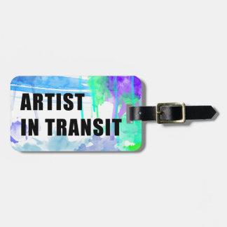 Etiqueta de encargo del viaje del artista de los