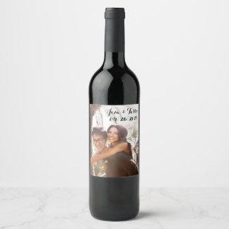 Etiqueta de encargo del vino del boda