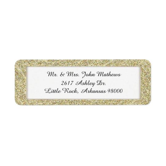 Etiqueta de encargo enmarcada oro 2 del remite